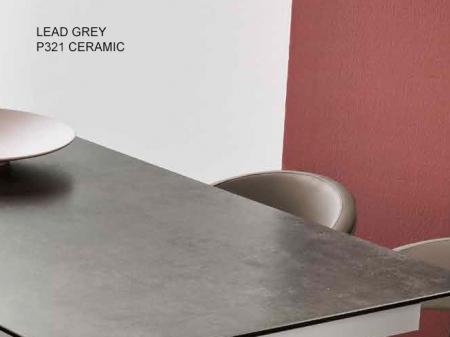 Стіл розкладний GIOVE OVALE 130 +50, кераміка lead grey