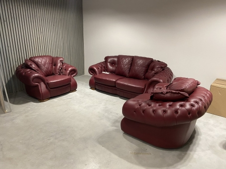 Tрехместный раскладной диван  NIDO и два кресла