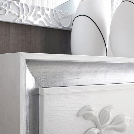 Спальный гарнитур  Le Mont Blanc: кровать, 2тумбочки, комод
