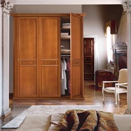 Спальный гарнитур Ginevra орех: кровать, 2 тумбочки, туалетный столик, зеркало, шкаф