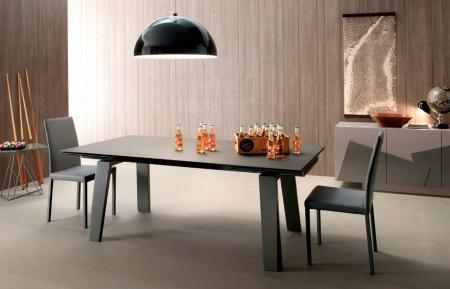 Стол раскладной FRAU Ceramic 200 + 50 + 50, светло-серый