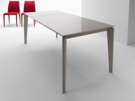 Стол раскладной AKIL 140 +60, стеклокерамика Piombo VC4