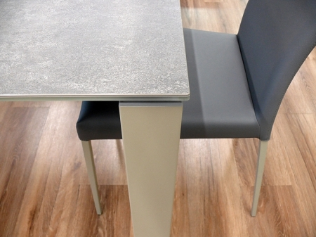 Стол раскладной BADU 140 +60, стеклокерамика Piombo VC4
