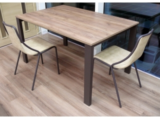 Стол раскладной BADU 140 +60, меламин, орех
