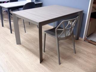 Стол раскладной BARON, 130+60, серый дуб
