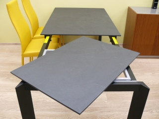 Стол раскладной BARON, 130+60, серый сланец