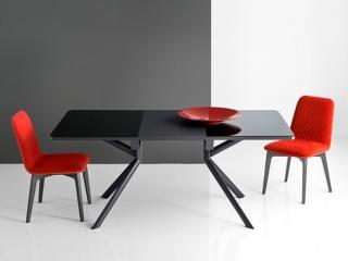 Стол раскладной GIOVE 130 +50, керамика stone grey