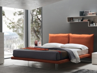 Ліжко Arcade екошкіра / тканина