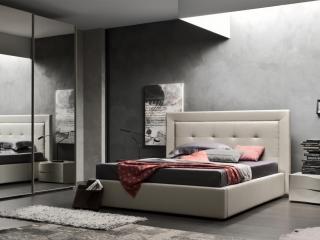 Ліжко Deo екошкіра / тканина