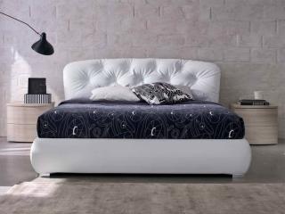 Кровать People 180x200 экокожа белая, с подъемным механизмом