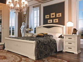 Кровать Afrodita 140x200 avorio