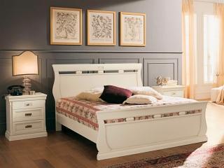 Ліжко Venere avorio, 160x200 з ізніжжям