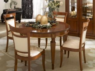Стол раскладной круглый 120 / 165, Angelica sala, вишня