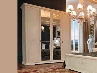Шкаф Afrodita avorio, четырехдверный, 2 зеркала
