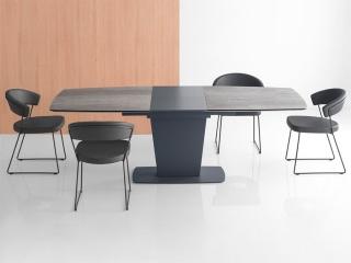 Стол раскладной ATHOS 180 + 50, ceramic, matt grey