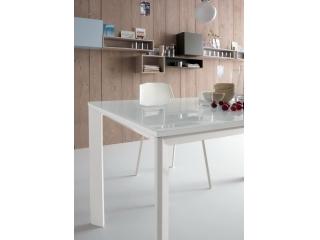 Стіл розкладний EGO, 140 + 40, меламін Rovere Grigio 85