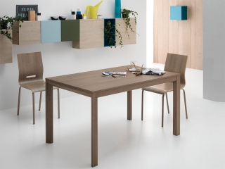 Стол раскладной FLY, 110 + 50, меламин Rovere Grigio 85