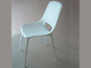 Стілець Eva1, білий, кожа біла