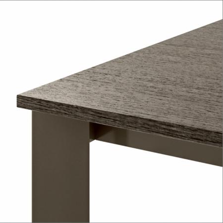 Стіл розкладний Zen Plus 140 + 40, creta, rovere grigio