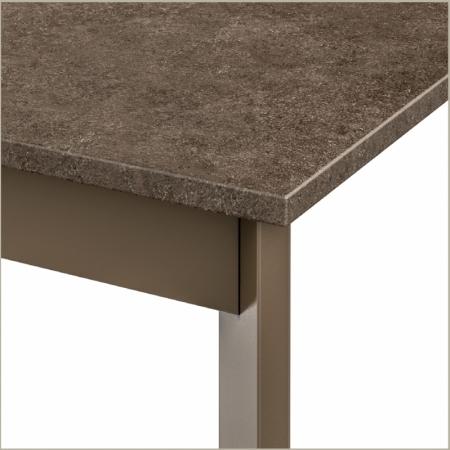 Стол раскладной Zen Plus 140 + 40, tortora, ламинат PORFIDO TABACCO
