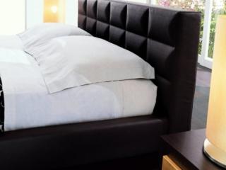 Ліжко CROSS 160x195, экошкіра темно-коричнева